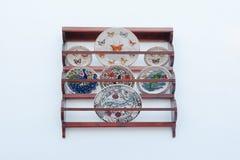 Tradycyjni ceramiczni talerze Zdjęcia Royalty Free