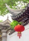 Tradycyjni Chińskie budynek dekorujący z lampionem, Szanghaj obraz royalty free