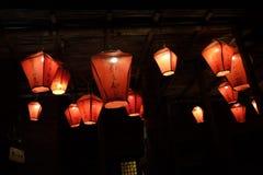 Tradycyjni Chińskie lampion w nocy zdjęcie stock