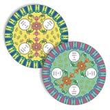 Tradycyjni Chińskie Tableware wzór dla Stołowej maty & kabotażowa Zdjęcie Royalty Free