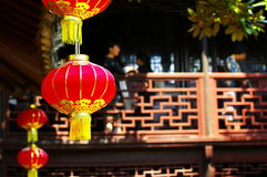 tradycyjni chińscy mieszkaniowi domy Zdjęcia Royalty Free