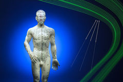 Tradycyjni Chińskie akupunktura Fotografia Stock