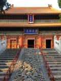 Tradycyjni Chińskie budynek przy parkiem, Pekin obrazy stock