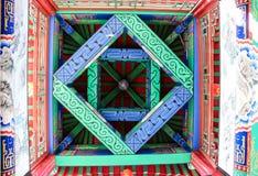Tradycyjni Chińskie obraz Basztowy sufit Zdjęcie Royalty Free