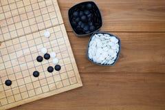 Tradycyjni chińskie boardgame Iść Zdjęcia Royalty Free