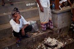 tradycyjni cockfighting Balijczyków ludzie Fotografia Stock