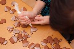Tradycyjni domowej roboty boże narodzenia piernikowi Fotografia Royalty Free