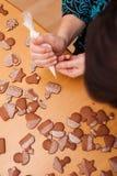 Tradycyjni domowej roboty boże narodzenia piernikowi Zdjęcia Stock