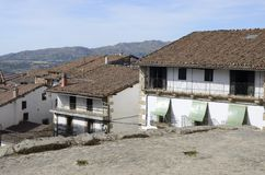 Tradycyjni domy w Candelario Fotografia Stock