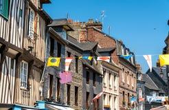 Tradycyjni domy w Honfleur france Normandia Fotografia Stock