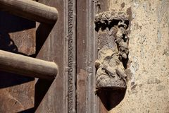 Tradycyjni drewniani drzwi Guangzhou Zdjęcie Stock