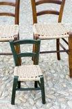 Tradycyjni drewniani krzesła Zdjęcie Royalty Free