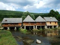 Tradycyjni drewniani młyny zdjęcie stock