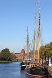 Tradycyjni żeglowanie statki w Luebeck Obrazy Royalty Free