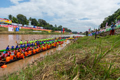Tradycyjni festiwale   Łódkowata rasa każdego roku 21, 22 Wrzesień, Phitsanulok Tajlandia Obrazy Royalty Free
