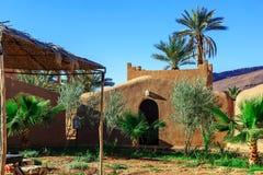 Tradycyjni gliniani domy, berber wioska W atlant górach, Moro Zdjęcia Stock