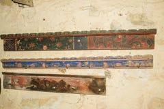 Tradycyjni hatstands w Viscri muzeum zdjęcie stock