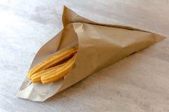 Tradycyjni hiszpańscy deserowi churros fotografia stock