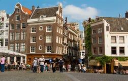 Tradycyjni holenderów domy przy Singel centrum w Amsterdam Obraz Royalty Free