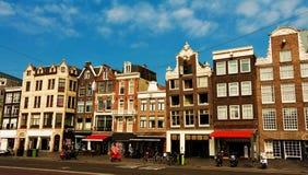 Tradycyjni Holenderscy domy, Amsterdam obrazy royalty free