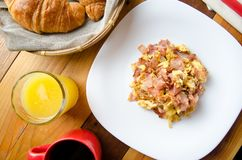 Tradycyjni jajka i baleronu śniadanie fotografia royalty free