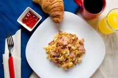 Tradycyjni jajka i baleronu ?niadanie zdjęcie royalty free