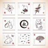 Tradycyjni Japońscy elementy Fotografia Stock
