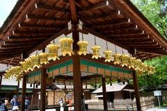 Tradycyjni Japońscy lampiony i makata zdjęcie stock