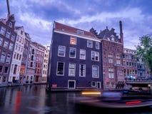 Tradycyjni kanałów domy zdjęcia stock
