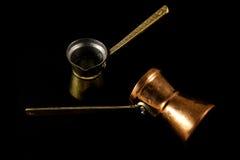 tradycyjni kawowi garnki Zdjęcie Royalty Free
