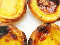 Tradycyjni Lisbon custard tarts, pastel de Belem obraz stock