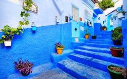 Tradycyjni marokańscy architektoniczni szczegóły w Chefchaouen, Maroko, Afryka obraz stock