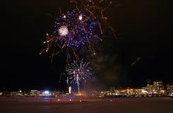 Tradycyjni nowy rok świętowania w LuleÃ¥ Obraz Stock