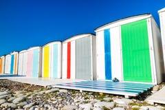 Tradycyjni odmienianie pokoje na plaży zdjęcie stock