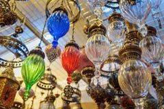 Tradycyjni orientalni colourful lampa lampiony zdjęcie royalty free