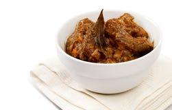 Tradycyjni południe - afrykański baranina curry zdjęcie royalty free