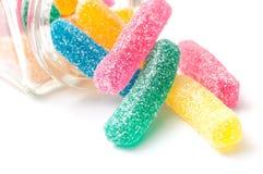 Tradycyjni podkwaszący cukierki na białym tle Fotografia Royalty Free