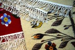 Tradycyjni romanian dywany fotografia royalty free