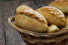 Tradycyjni rosyjscy kulebiaki Fotografia Stock