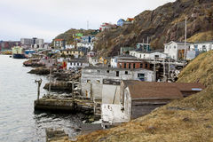 Tradycyjni rybaków domy Fotografia Stock
