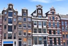 Tradycyjni rzędów domy w Amsterdam Obrazy Stock