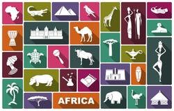 Tradycyjni symbole Afryka Zdjęcia Stock