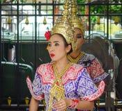 Tradycyjni tancerze w Bangkok, Tajlandia Zdjęcie Stock