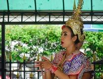 Tradycyjni tancerze w Bangkok, Tajlandia Fotografia Stock