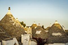 Tradycyjni trulli domy w Arbelobello, Puglia, Włochy Obraz Royalty Free
