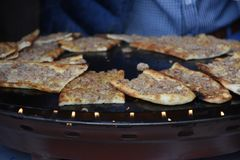 Tradycyjni Tureccy ciasta z mięsem Zdjęcia Royalty Free
