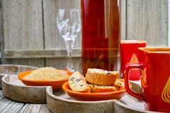 Tradycyjni włoscy amandel cantuccini cookes obraz royalty free