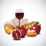 Tradycyjni Żydowscy foods Ilustracja Wektor