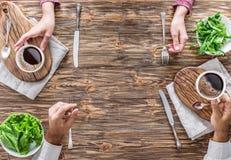 Tradycyjny śniadanie w domu obraz stock