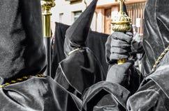 Tradycyjny Świętego tygodnia korowód w Zamora, Hiszpania Obrazy Stock